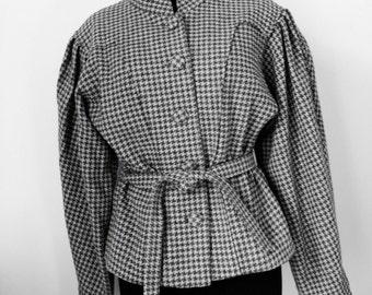 Jacket in wool, houndstooth and vintage 80, Emmanuelle Khanh, 38, M
