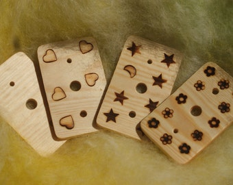 Wooden Diz - Spinning tool for making roving - handmade