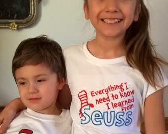 Dr Seuss tshirts for boys and girls