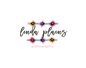 Watercolor Business Logo, watercolor design, photography, watermark, painted, south western, boho, Newborn photography logo, maternity logo