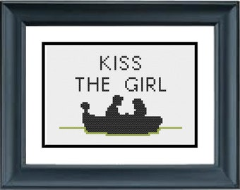 Kiss the Girl - The Little Mermaid - Disney - PDF Cross-Stitch Pattern