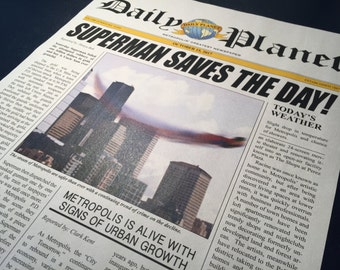 Smallville Daily Planet Newspaper - Superman Cover