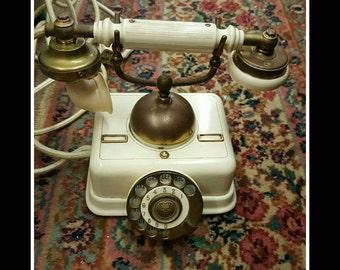 Vintage Antique Rotary Telephone by  Kjobenhavns Telefon Denmark AKTIESELSKAB