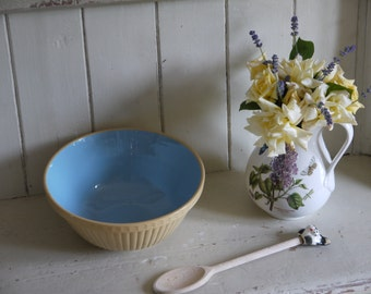 Pastel Blue Vintage Mixing Bowl - Made In England