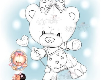 Digital Stamp PDB-Bear Love4