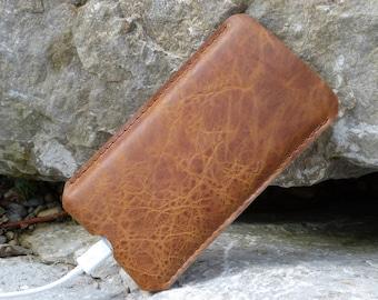 SAVANNA Galaxy S8, Galaxy S8 plus leather case, SlimLine leather case, wool felt