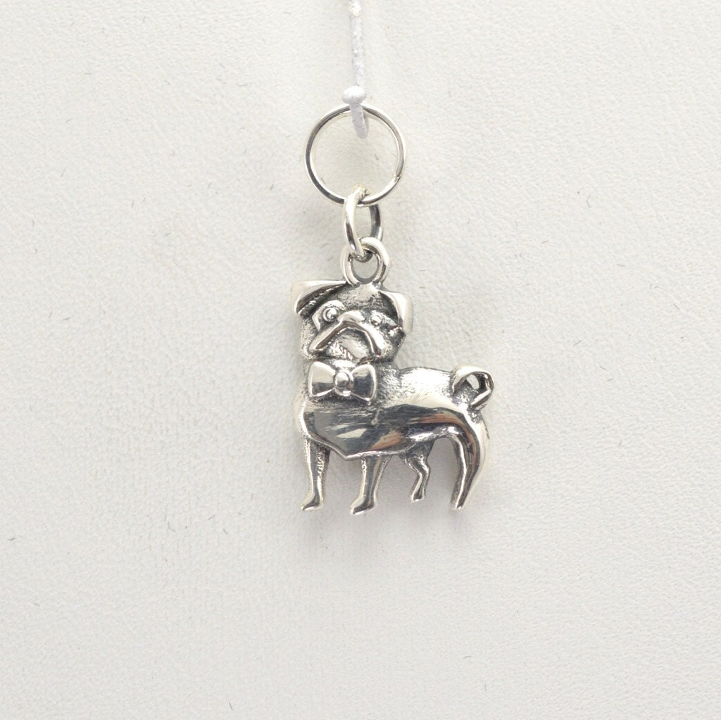 sterling silver pug charm by donna pizarro from animal