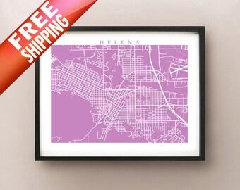 Helena Map Print