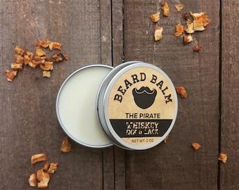 The Pirate Beard Balm - Leave-in beard tamer, bay rum scented beard conditioner, bay rum beard butter, bay rum beard pomade