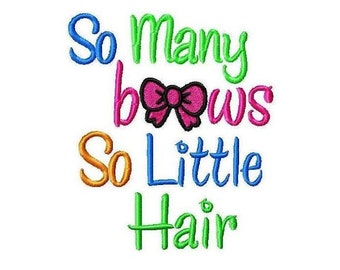 So Many Bows Embroidery Design -INSTANT DOWNLOAD-
