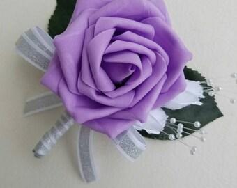 purple boutonniere, classic boutonniere, Elegant boutonniere, affordable boutonnieres,groomsmen accessories, summee boutonnieres, wedding