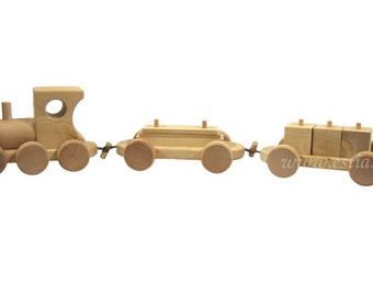 Freight train with Dice & plate pendant wooden