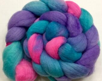 BFL, 4oz, Wool, Fiber, Roving, felting, Hand Dyed, Spinning, Long Wool, 913