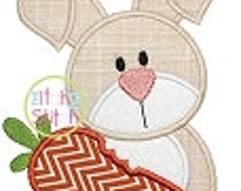 Personalized Easter Bunny with Carrot Boy or Girl Applique Shirt or Onesie