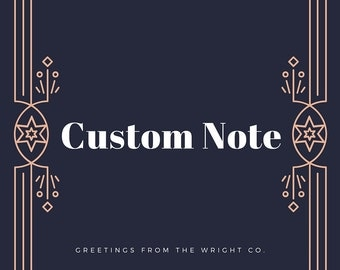 Personalized Note For Purchase
