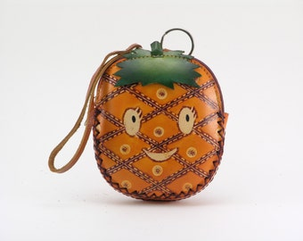 pineapple leather coin purse