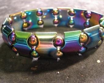 Neon Titanium-Magnetite Multicolored Bracelet  #1