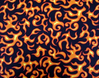 Per Yard, On Fire Flames Fabric