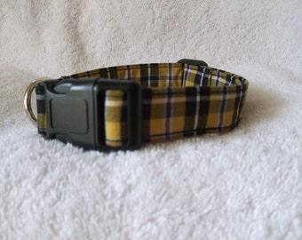 Cornish Tartan National Dog Collar / Tartan Plaid