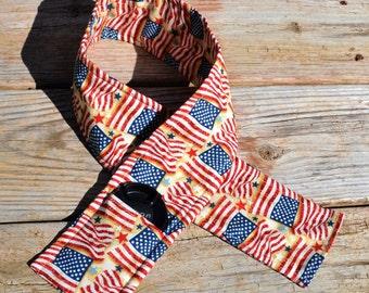 Patriotic Padded DSLR Camera Strap Cover