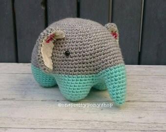 READY TO POST Crochet amigurumi Theodore the Elephant