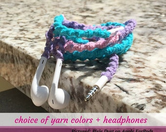 iPhone 5 Headphones ~ Wrapped Earbuds for iPhone, iPod, Android ~ Your Choice of Colors Unique Birthday Gift for Teenager College Student