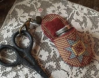 Primitive Scissor fob/ Thimble case