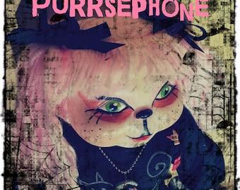 PURRSEPHONE-OOAK Pastel Goth Creepy Horror Punk Kitty Cat