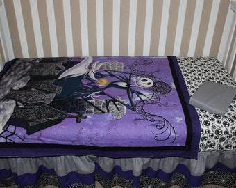Crib Bedding Set, Jack Skellington Nightmare Before Christmas  5 Piece