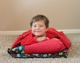 Dinosaur Nap Mat Cover, Kinder Mat Cover, Nap Mat Cover with Pillowcase and Blanket
