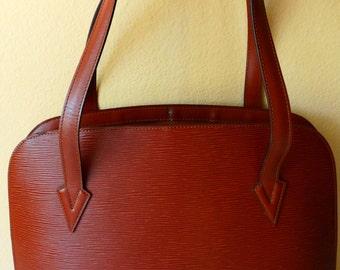 Authentic Vintage Louis Vuitton Epi Leather Lussac Tote Shoulder Bag