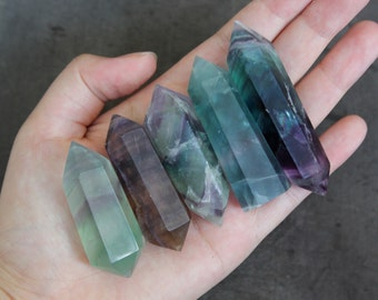 Fluorite Crystal Wand 34g +/-