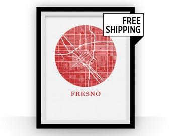 Fresno Map Print - City Map Poster
