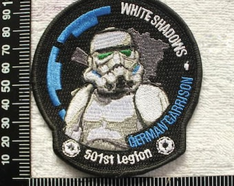 White Shadows German Garrison , Star Wars Iron on Patch Military Patches CD137