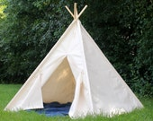Teepee Large Canvas Play Tent Kids Tent, READY to SHIP Teepee, Tee Pee, Kids Tent, Tent, Teepee, Kids Teepee, Playhouse, Fully Assembled