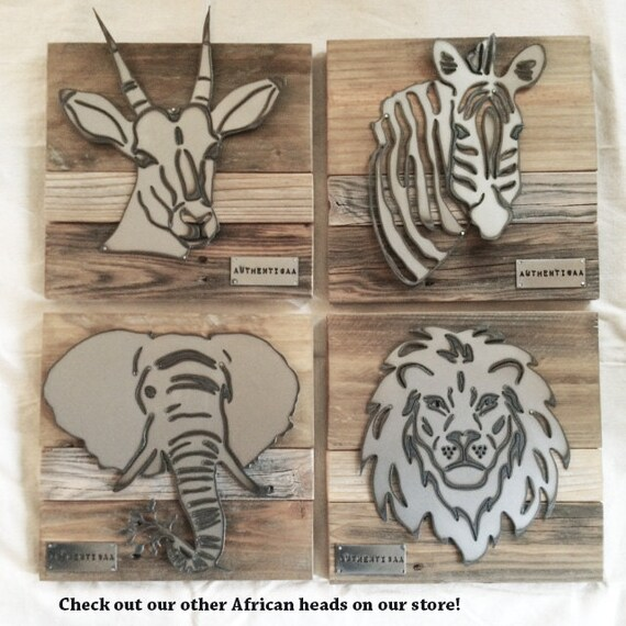 Zebra Head Wall Decor : Zebra head trophy wall art african decor safari by authenticaa