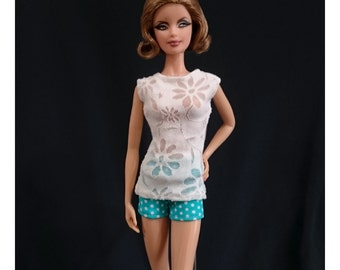 Dolls tops + pants for Muse barbie, Barbie, FR,Fashion Royalty doll- No.04126