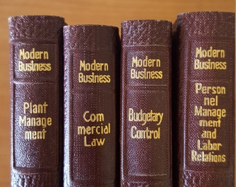 Vintage Alexander Hamilton Institute Modern Business books, Budgetary Control, Commercial Law,Plant Management, Labor Relations 1959
