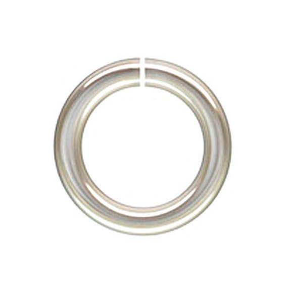 25pc sterling silver 6mm 19ga open jump rings 25pc 6mm
