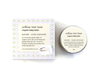 Organic Baby Balm, Nappy Balm, Baby Salve, Rich and Nourishing, Gentle, Sensitive Skin