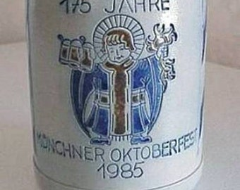 Vintage GOEBEL BEER STEIN with Pewter Lid 1985 Octoberfest in Munich Germany