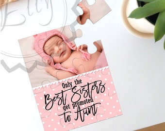 Personalized Baby Photo Puzzle, Create your own Jigsaw Puzzle, Custom Picture Puzzle, 12 Piece Photo Puzzle