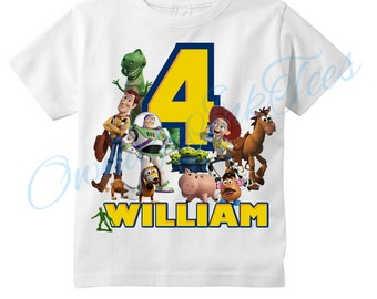 Toy Story Custom T-Shirt, PERSONALIZE with Name and Age, Perfect Birthday Gift!