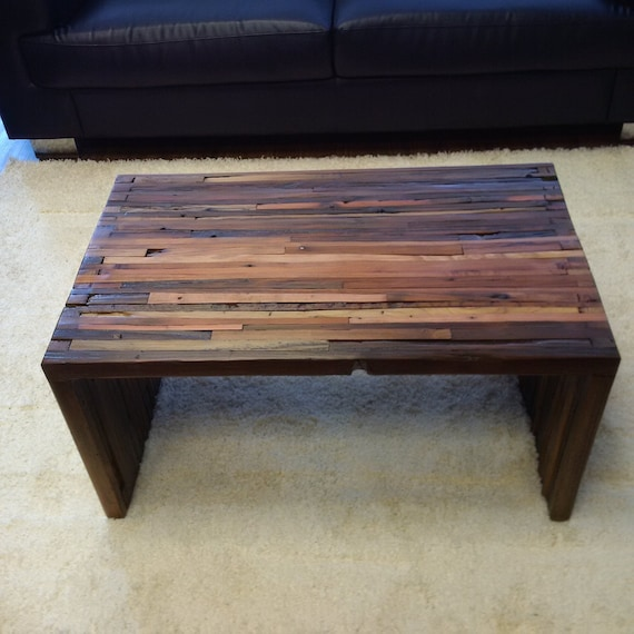 California Redwood Coffee Table: Coffee Table Rustic Coffee Table Upcycled By SweetRedDesign