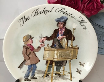 Vintage 1985 Wedgwood Collectors Plate 'The Baked Potato Man' Edition 212 E