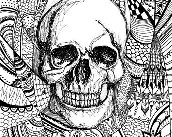 A4 Skull Art Print (limited edition)