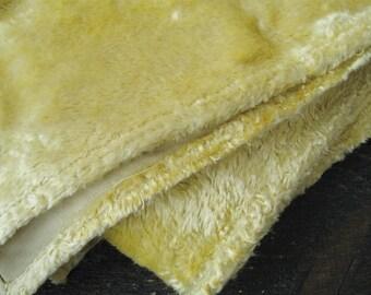"Vintage Yellow plush fabric for making teddy bear 67""х19,7"" or 170cm x 50cm."