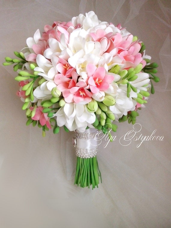 white pink freesia bouquet with boutonniere clay wedding. Black Bedroom Furniture Sets. Home Design Ideas