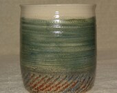 Utensil Holder, Jar, Vessel, White, Green, Red, Stoneware, Ceramic, Kitchen, Home Decor,