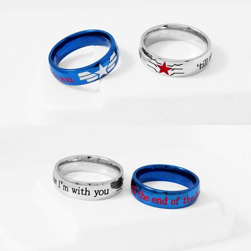 captain america wedding ring stucky ring winter soldier captain america by 2441
